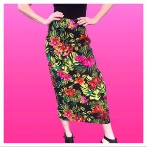 Dresses & Skirts - Vintage Tropical Floral Skirt